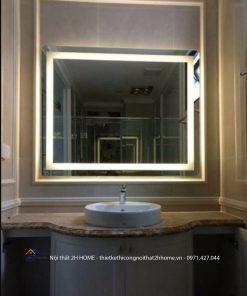 Gương Oval viền thép sơn tĩnh điện OVA.TH.DE
