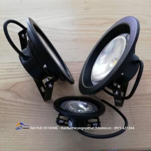 Đèn LED pha hình tròn 10W chống nước IP65 ánh sáng vàng