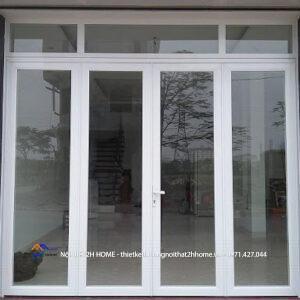 Cửa nhôm kính Xingfa màu vân gỗ