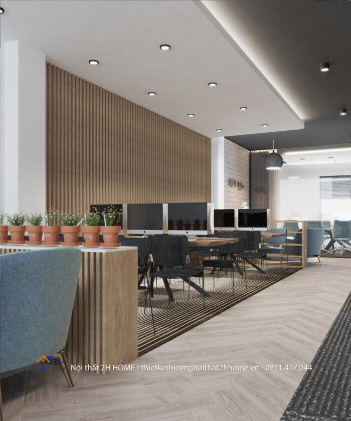 thiết kế văn phòng trẻ trung, hiện đại